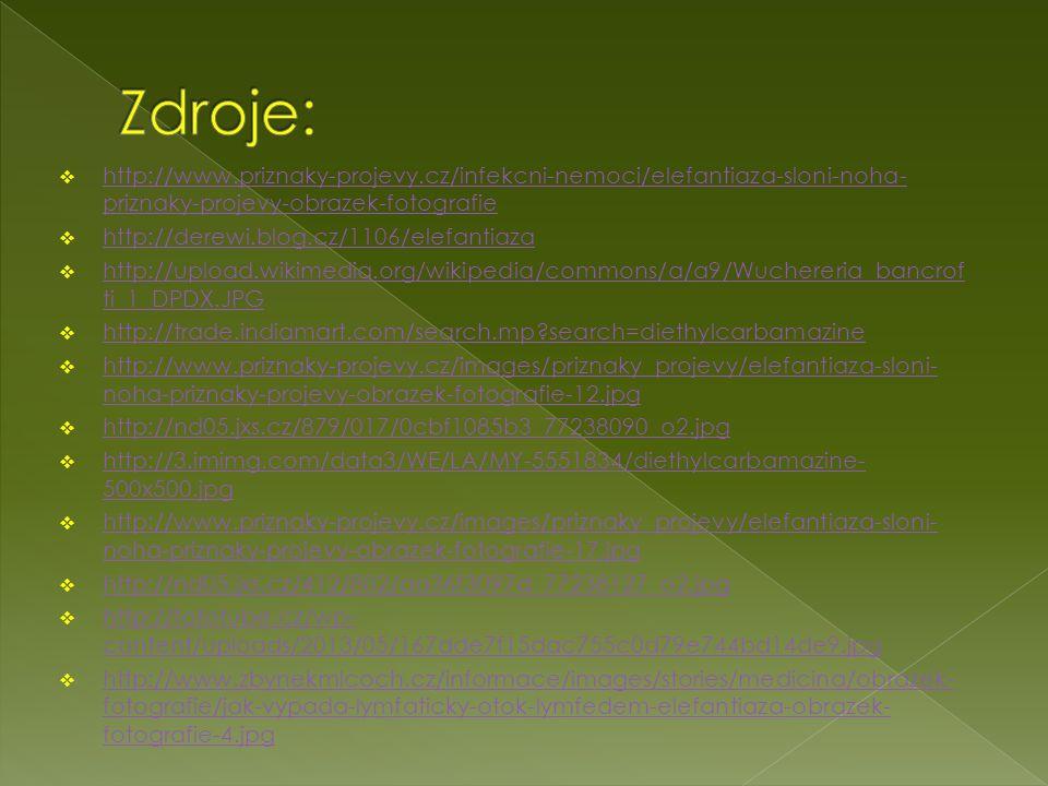 Zdroje: http://www.priznaky-projevy.cz/infekcni-nemoci/elefantiaza-sloni-noha-priznaky-projevy-obrazek-fotografie.