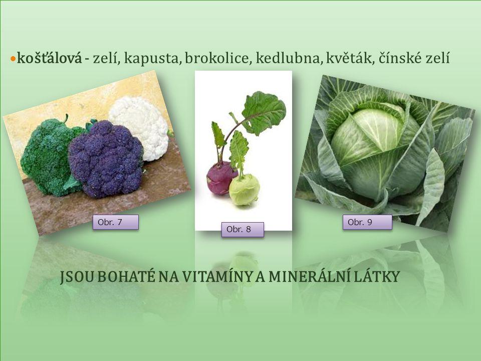 Jsou bohaté na vitaminy a minerální látky