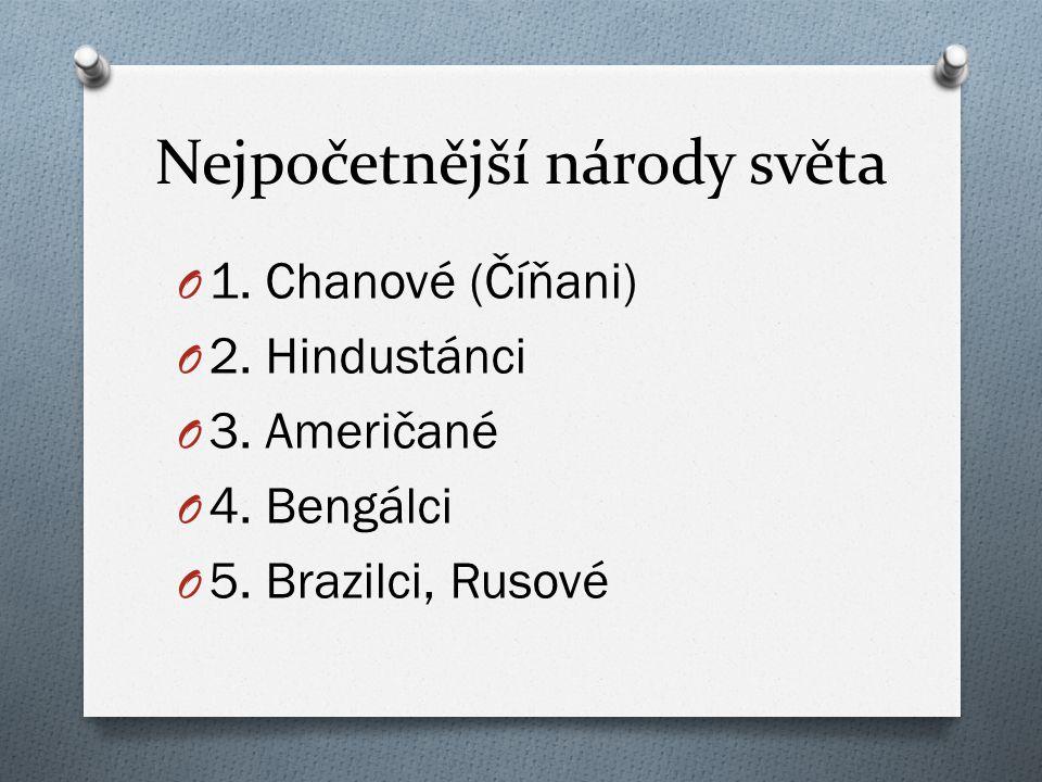 Nejpočetnější národy světa