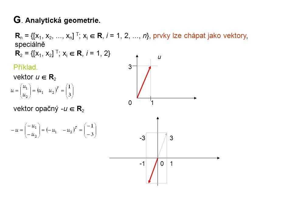 G. Analytická geometrie.
