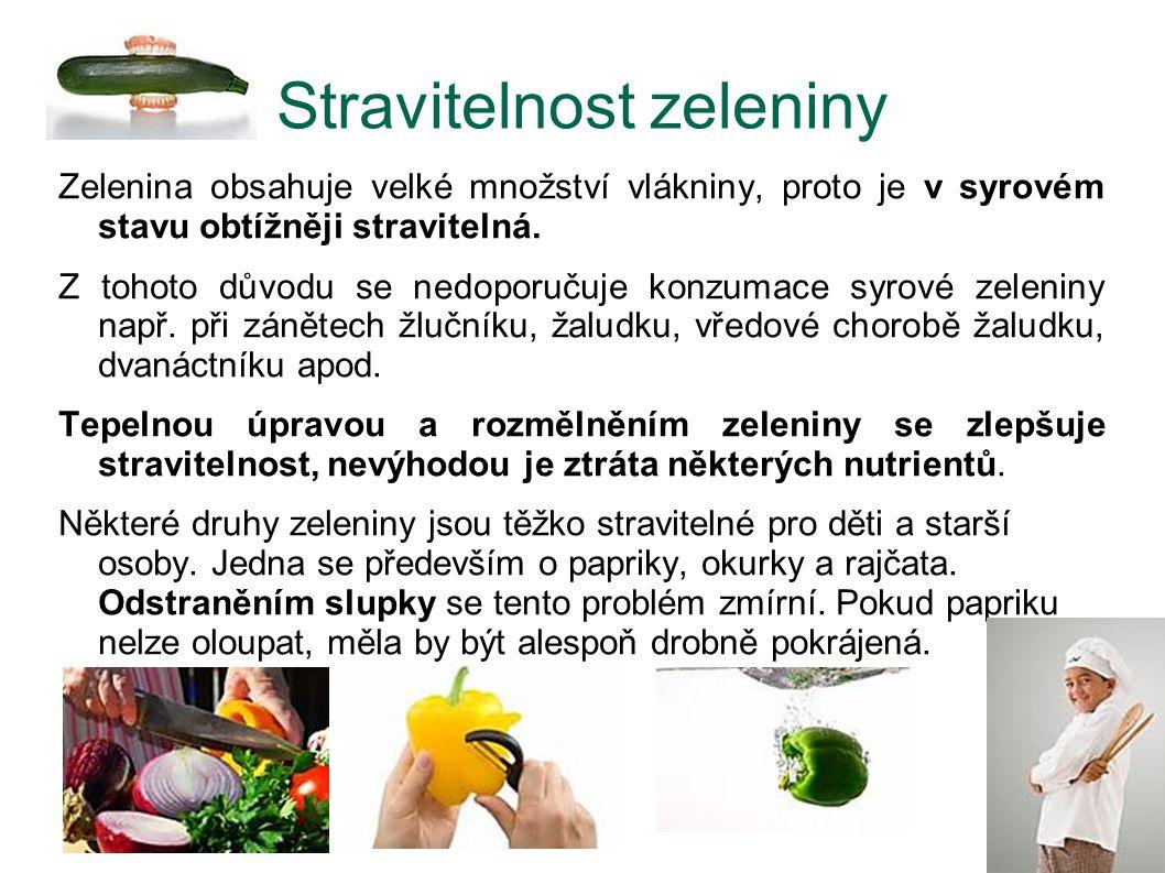 Stravitelnost zeleniny