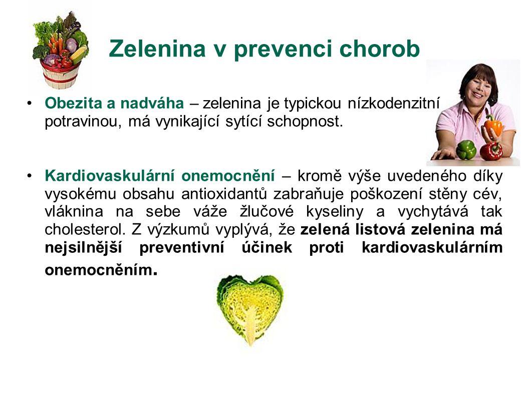 Zelenina v prevenci chorob