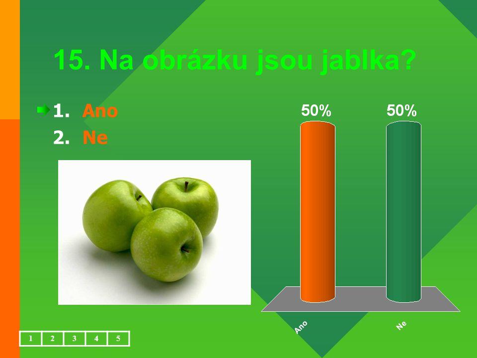 15. Na obrázku jsou jablka Ano Ne 1 2 3 4 5