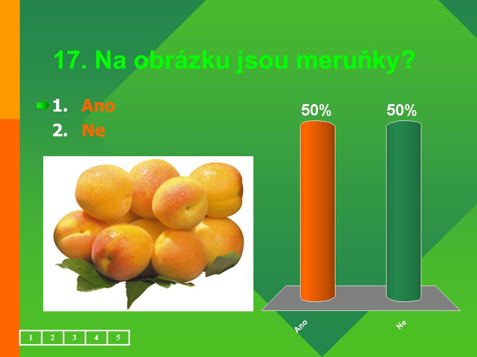17. Na obrázku jsou meruňky