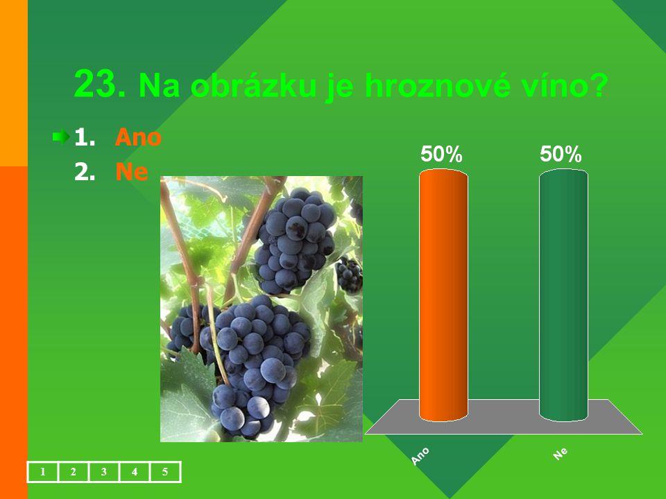 23. Na obrázku je hroznové víno