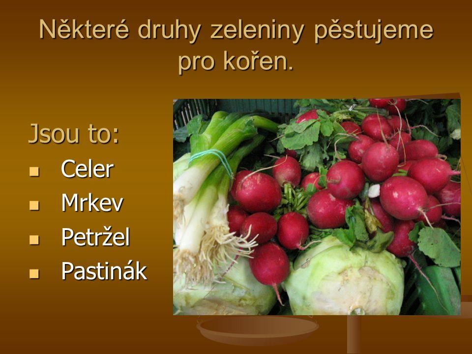 Některé druhy zeleniny pěstujeme pro kořen.