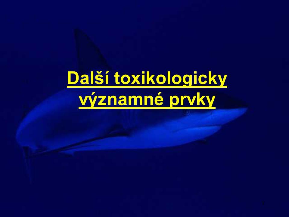 Další toxikologicky významné prvky