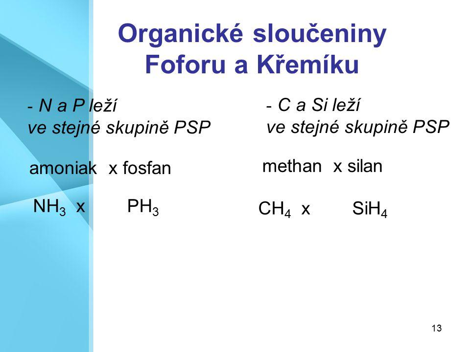 Organické sloučeniny Foforu a Křemíku