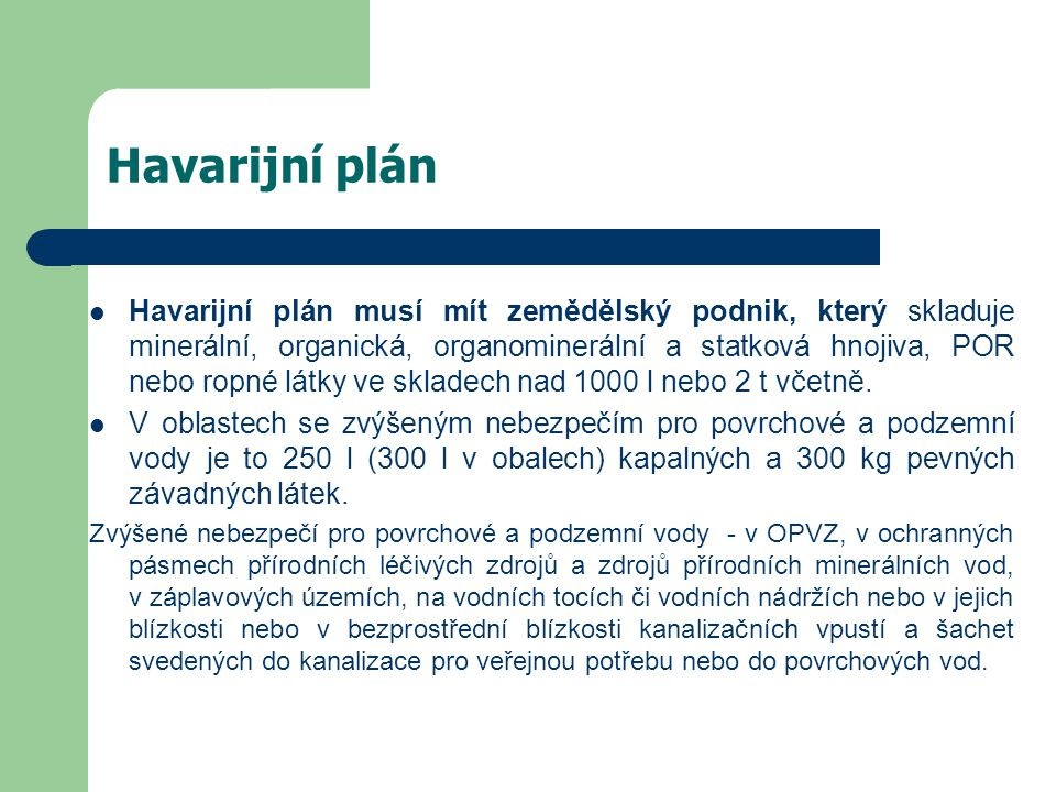 Havarijní plán