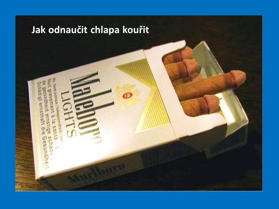 Jak odnaučit chlapa kouřit