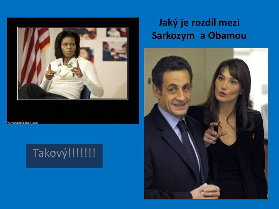 Jaký je rozdíl mezi Sarkozym a Obamou