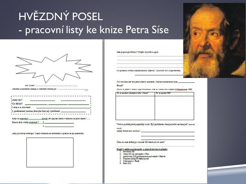 HVĚZDNÝ POSEL - pracovní listy ke knize Petra Síse