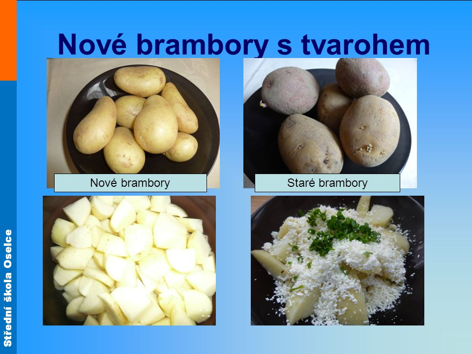 Nové brambory s tvarohem