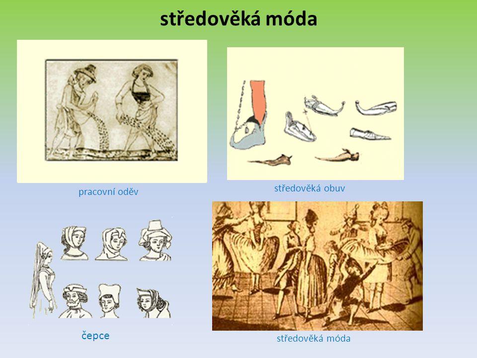 středověká móda středověká obuv pracovní oděv čepce středověká móda
