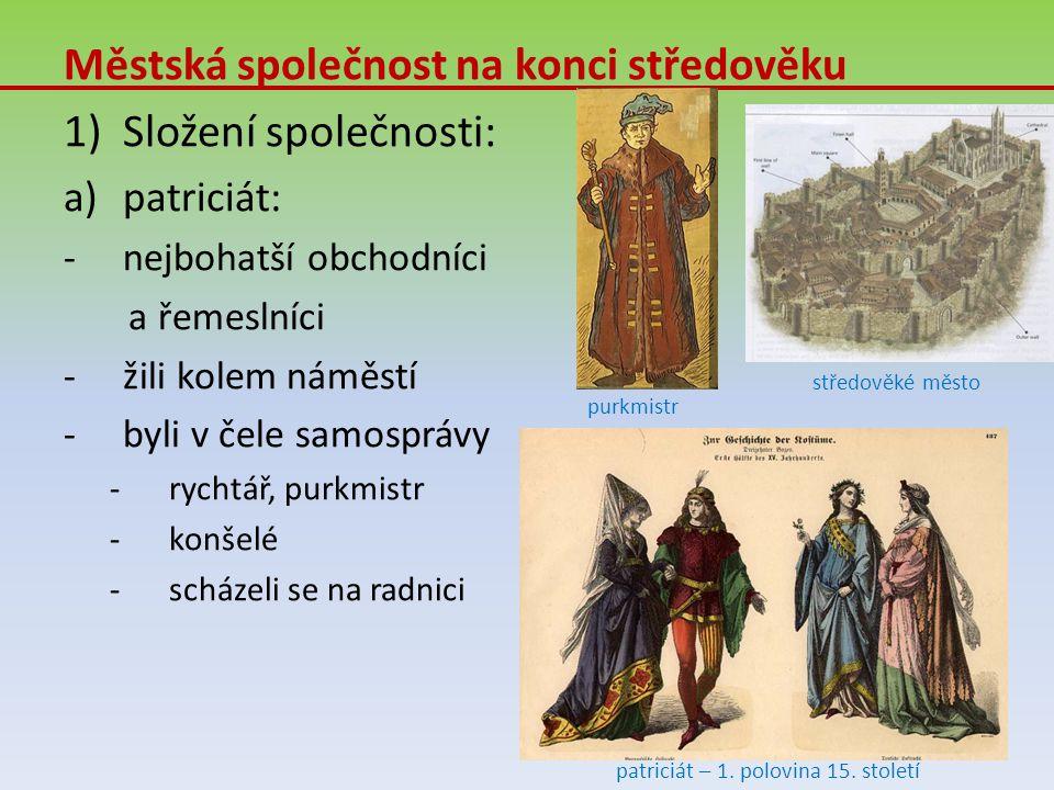 patriciát – 1. polovina 15. století