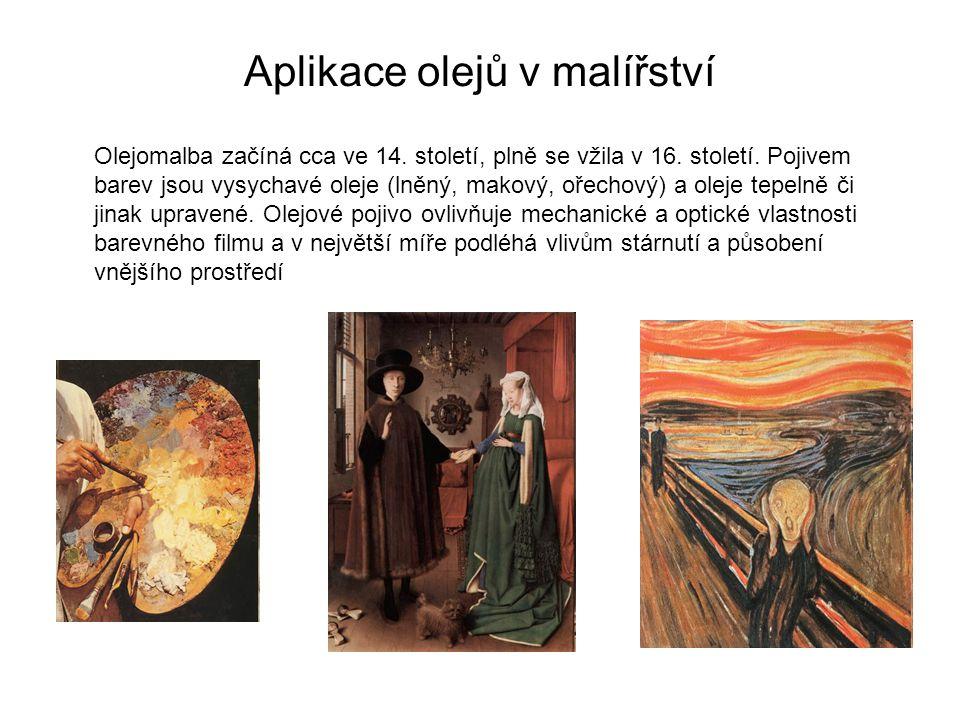 Aplikace olejů v malířství