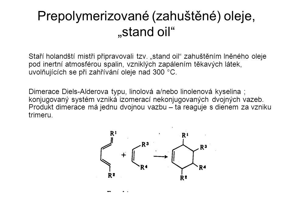 """Prepolymerizované (zahuštěné) oleje, """"stand oil"""