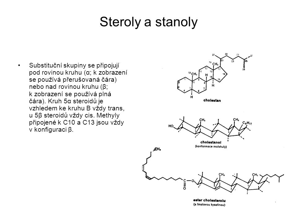 Steroly a stanoly