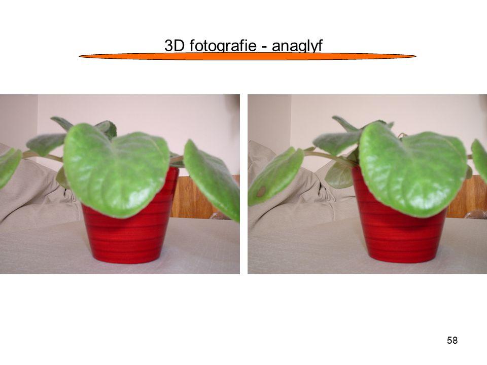 3D fotografie - anaglyf