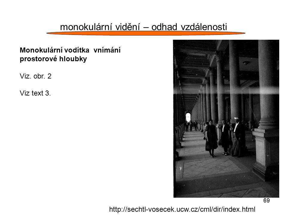 monokulární vidění – odhad vzdálenosti