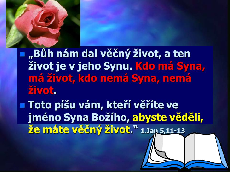 """""""Bůh nám dal věčný život, a ten život je v jeho Synu"""
