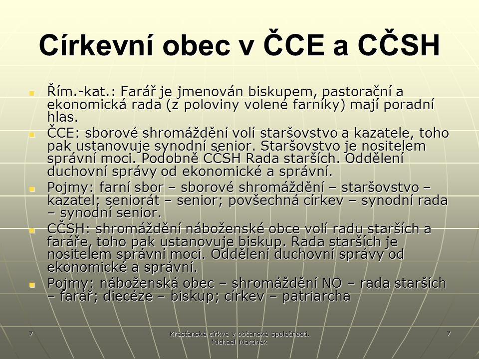 Církevní obec v ČCE a CČSH