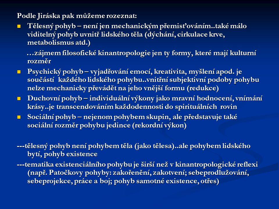 Podle Jiráska pak můžeme rozeznat: