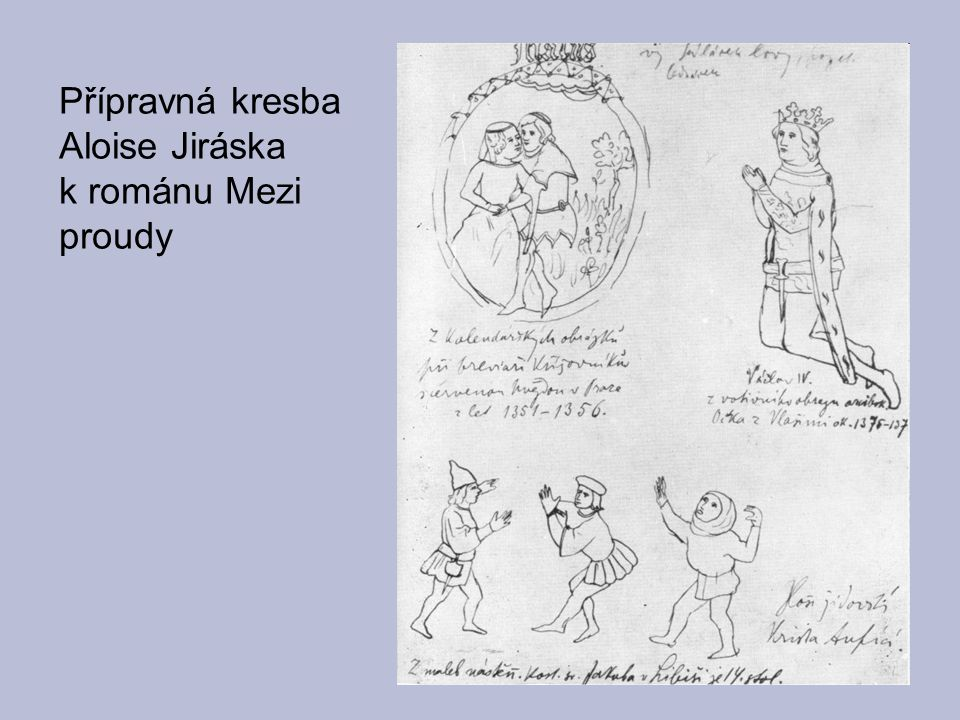 Přípravná kresba Aloise Jiráska