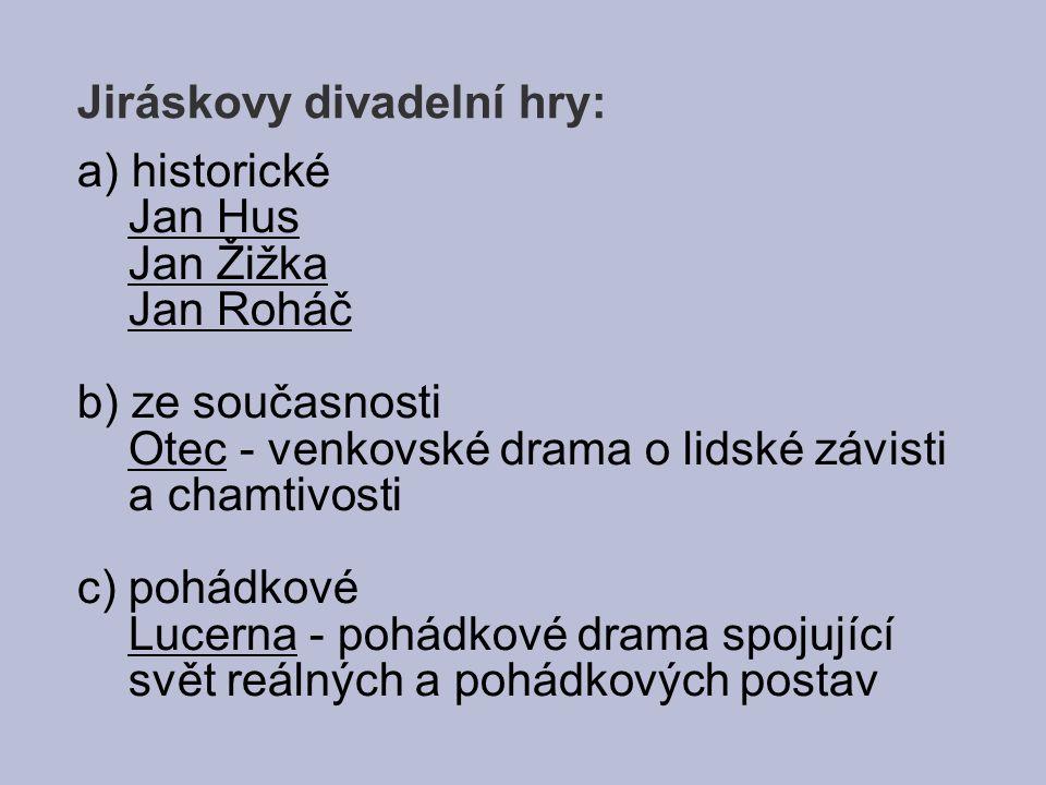 Jiráskovy divadelní hry:
