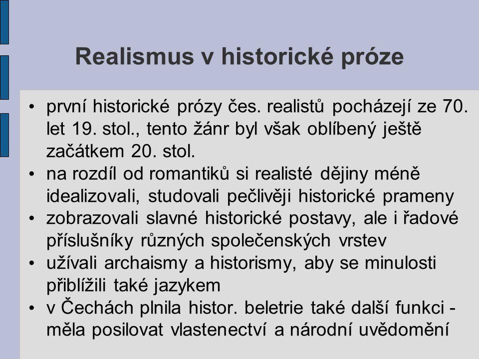 Realismus v historické próze