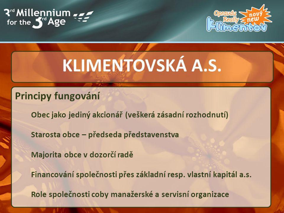 KLIMENTOVSKÁ A.S. Principy fungování .....