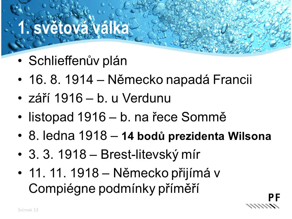 1. světová válka Schlieffenův plán