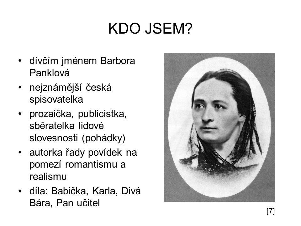 KDO JSEM dívčím jménem Barbora Panklová