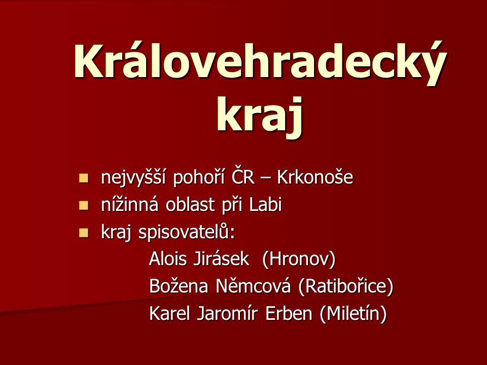 Královehradecký kraj nejvyšší pohoří ČR – Krkonoše