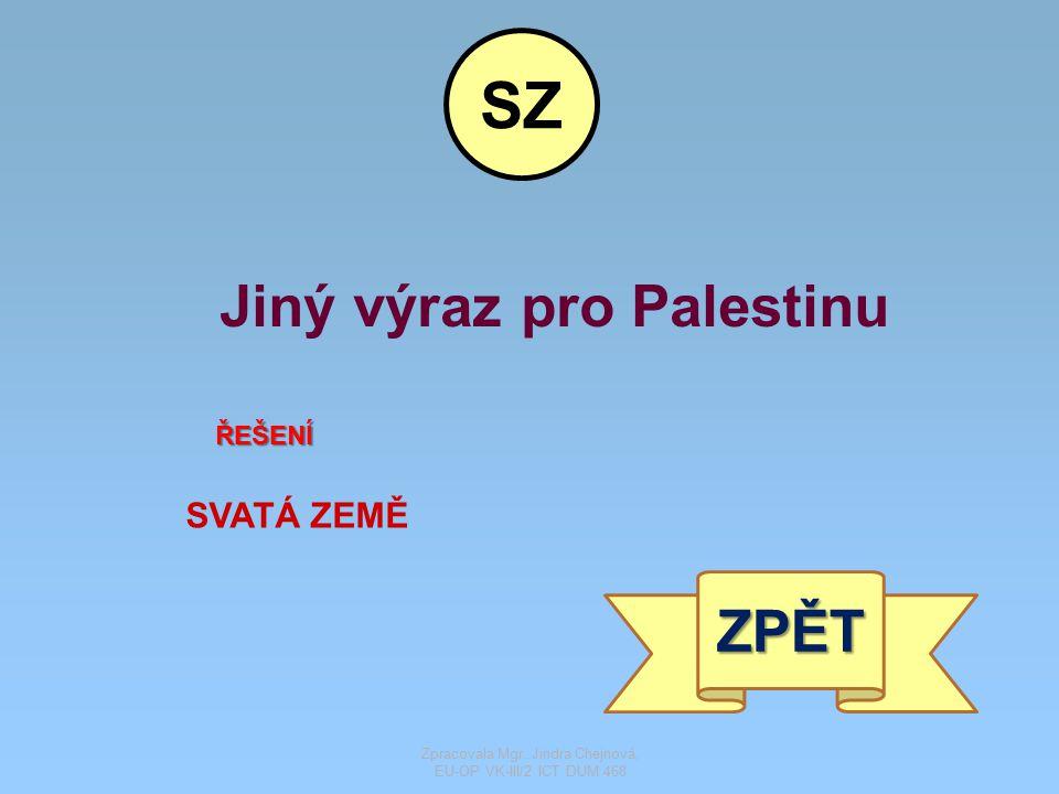 Jiný výraz pro Palestinu