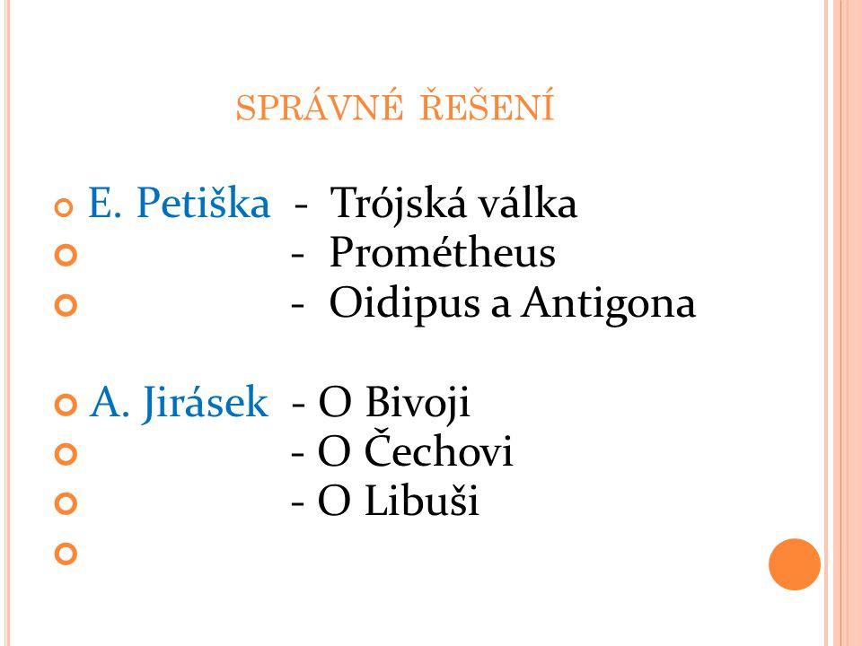- Prométheus - Oidipus a Antigona A. Jirásek - O Bivoji - O Čechovi