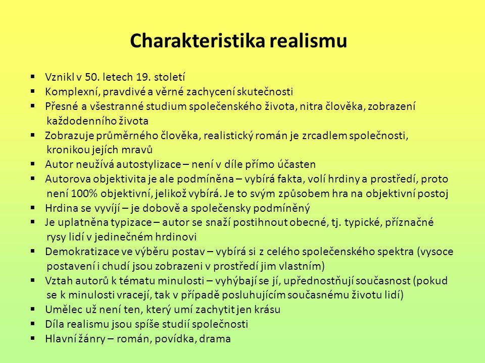 Charakteristika realismu