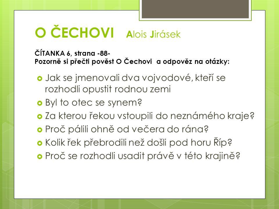 O ČECHOVI Alois Jirásek