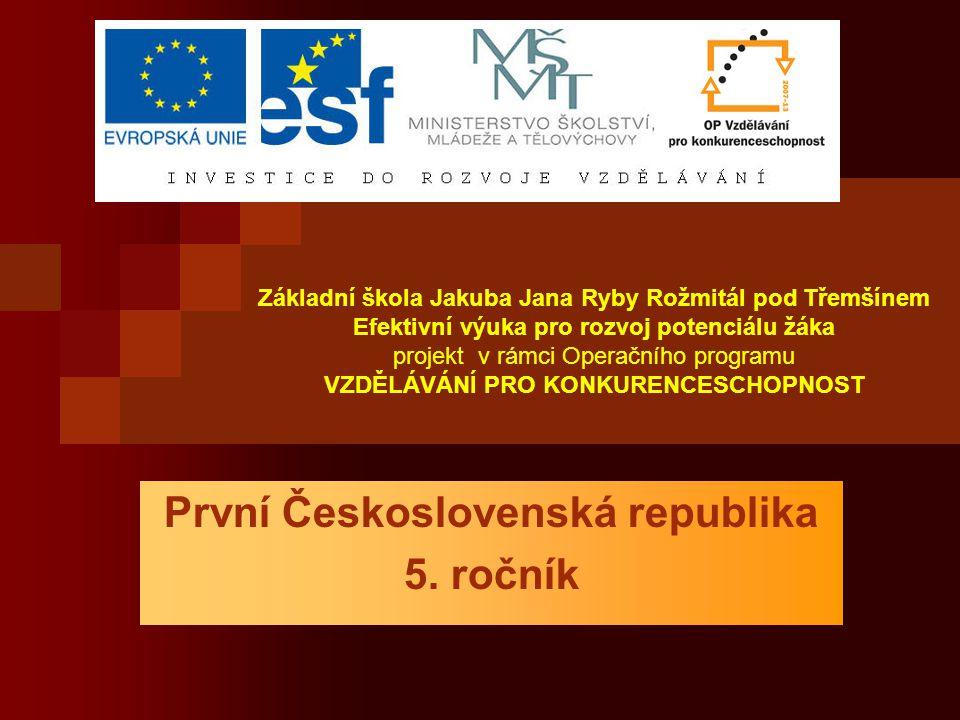 První Československá republika 5. ročník