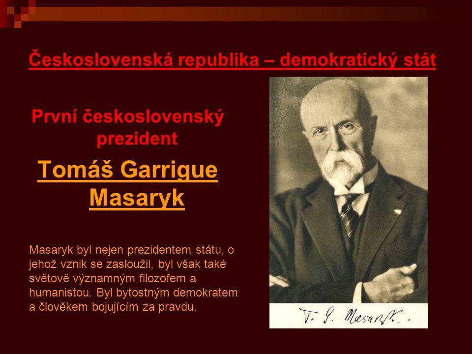 Československá republika – demokratický stát