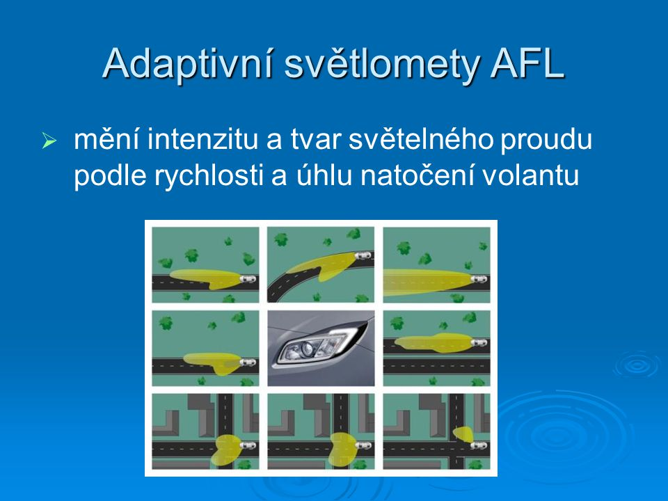 Adaptivní světlomety AFL