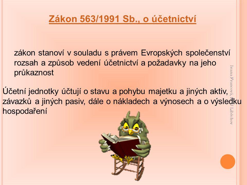 Zákon 563/1991 Sb., o účetnictví