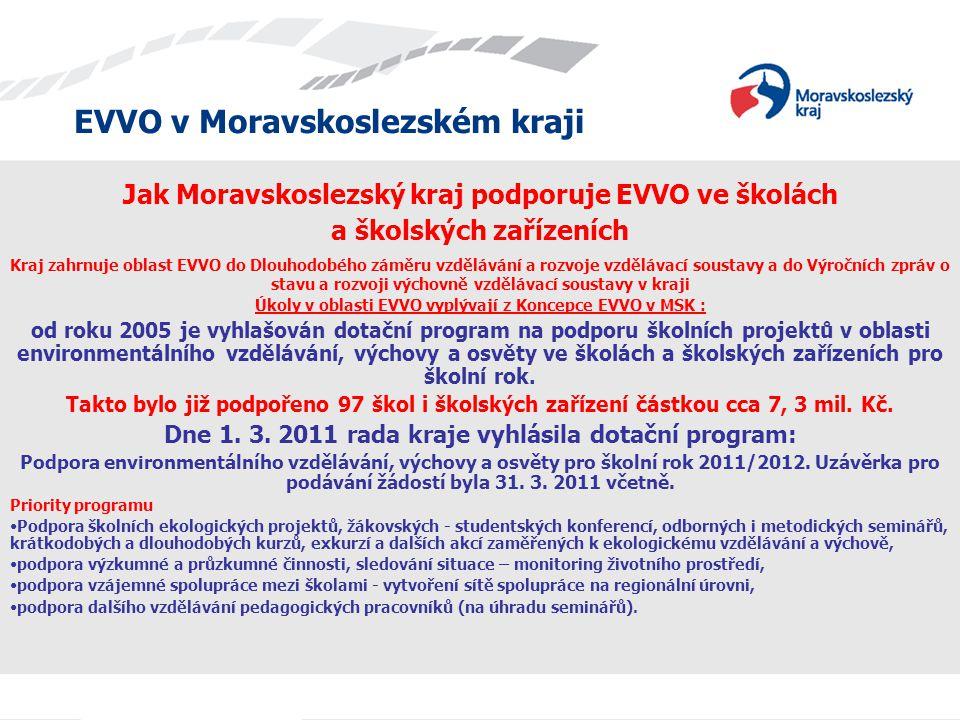 Jak Moravskoslezský kraj podporuje EVVO ve školách