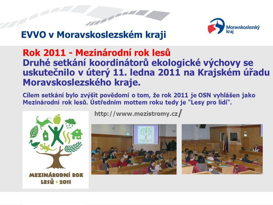 Rok 2011 - Mezinárodní rok lesů Druhé setkání koordinátorů ekologické výchovy se uskutečnilo v úterý 11. ledna 2011 na Krajském úřadu Moravskoslezského kraje.