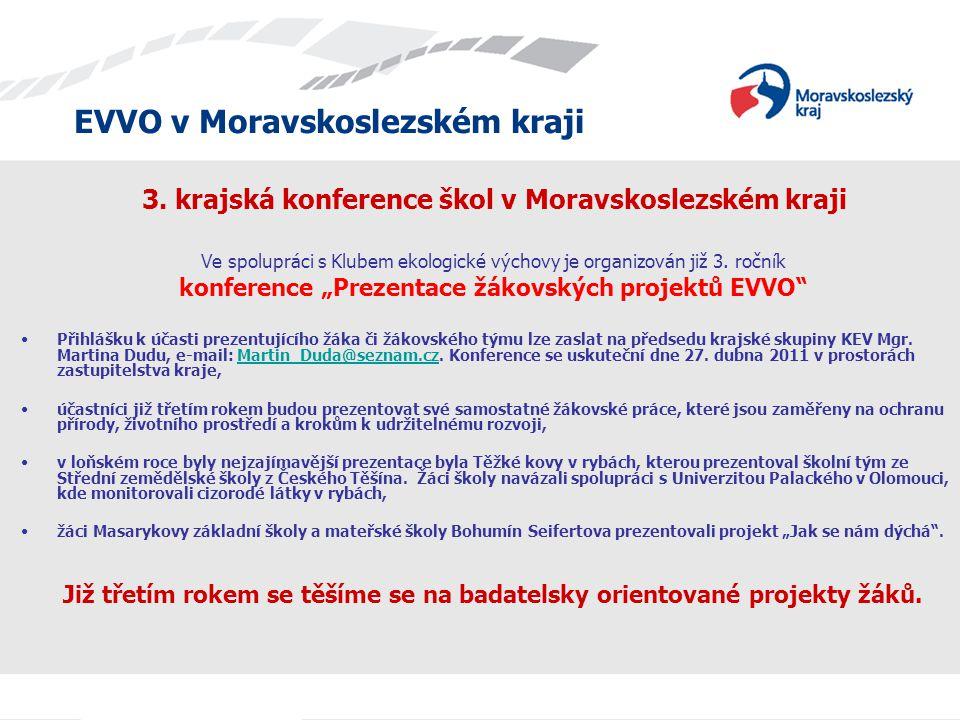 3. krajská konference škol v Moravskoslezském kraji