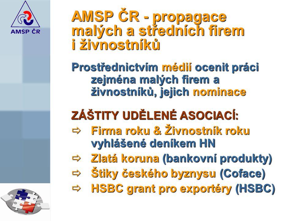 AMSP ČR - propagace malých a středních firem i živnostníků