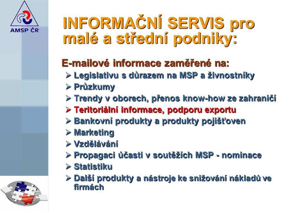 INFORMAČNÍ SERVIS pro malé a střední podniky: