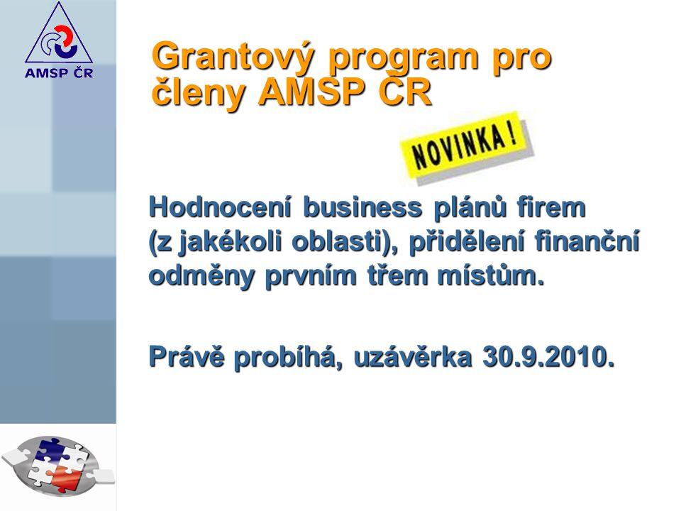 Grantový program pro členy AMSP ČR