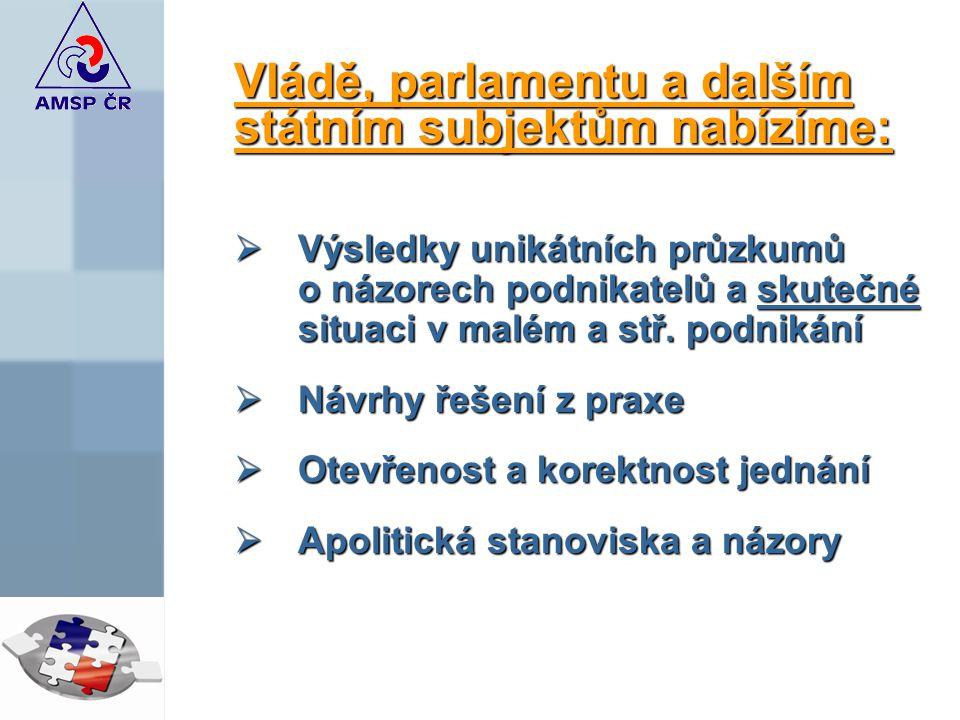 Vládě, parlamentu a dalším státním subjektům nabízíme: