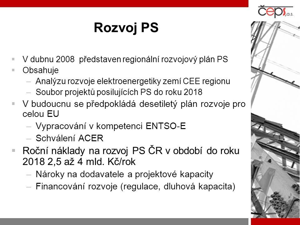 Rozvoj PS V dubnu 2008 představen regionální rozvojový plán PS. Obsahuje. Analýzu rozvoje elektroenergetiky zemí CEE regionu.